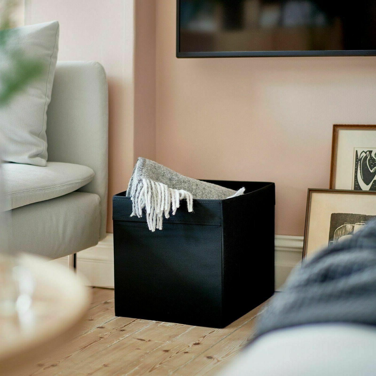 Ikea Storage Box Black Fits/