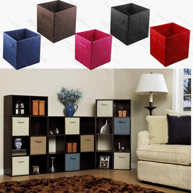 2018 Home Storage Bins Organizer Fabric Cube Boxes Basket Dr