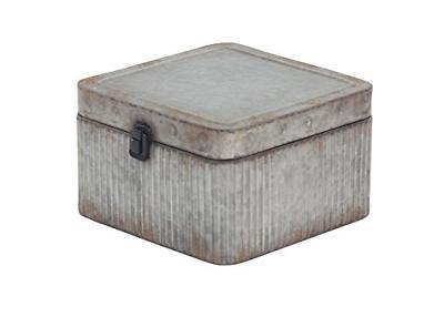 Deco 79 20390 Box, Gray/Black