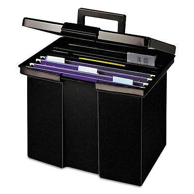 Pendaflex 20861 File Box, Plastic, x 11-3/4 x Black