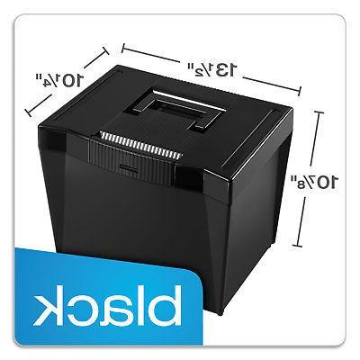 Pendaflex - File Storage Box, Plastic, 14-7/8 x 11-3/4 x Black