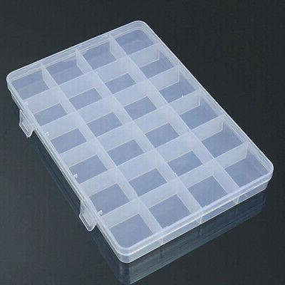 24 Plastic Jewelry Storage Craft Organizer