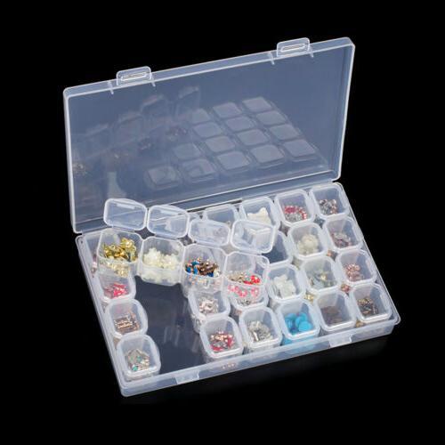 28 Plastic Organizer Storage Jewelry Beads Box Art