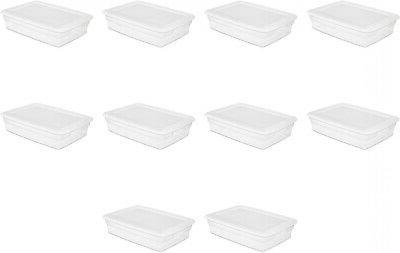 Sterilite 28 Quart Storage Box- White, Case of 10 W