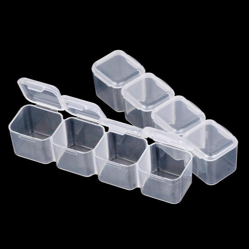 28 Slots Plastic Jewelry Storage Case