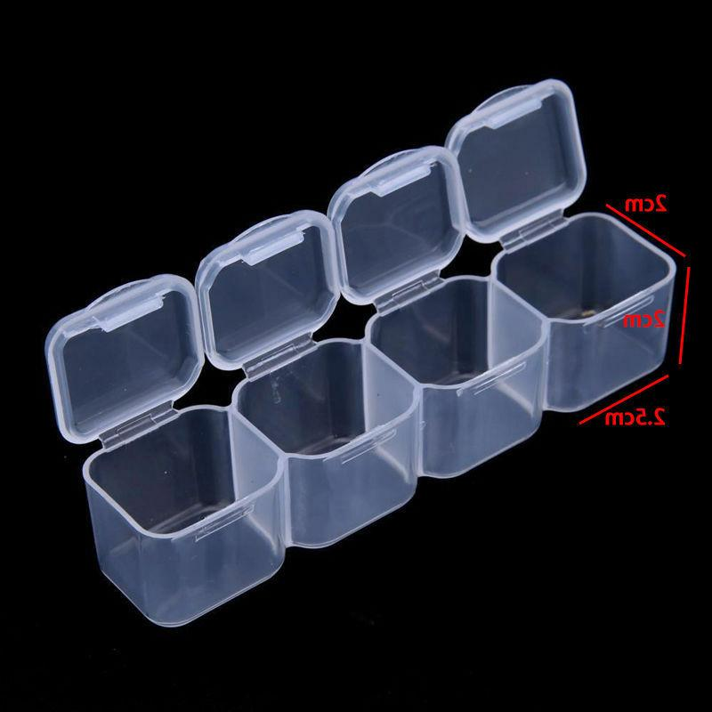 28 Slots Clear Jewelry Storage Box Beads Case Tools Adjustable