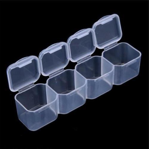 28 Plastic Adjustable Jewelry Box Beads Organizer A