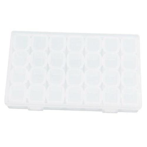 28 Plastic Adjustable Jewelry Storage Box Beads Organizer A