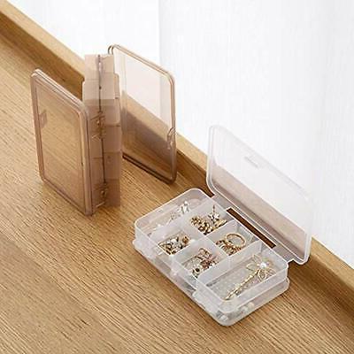 2Pcs Craft Supplies Clear Layer Plastic Box