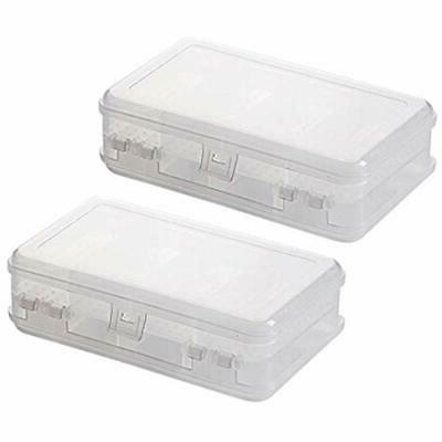 2pcs craft and sewing supplies storage clear