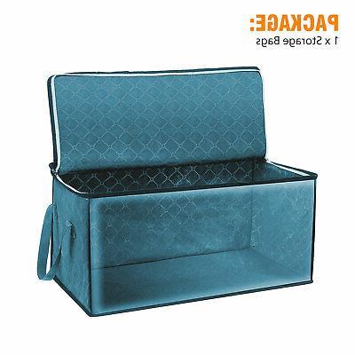 Foldable Home Closet Storage Bag Blanket Zipper
