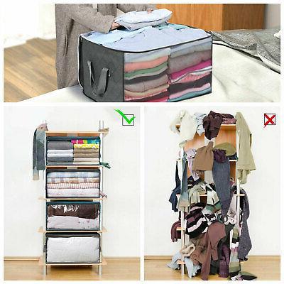 Foldable Storage Bag Clothes Quilt Zipper Organizer
