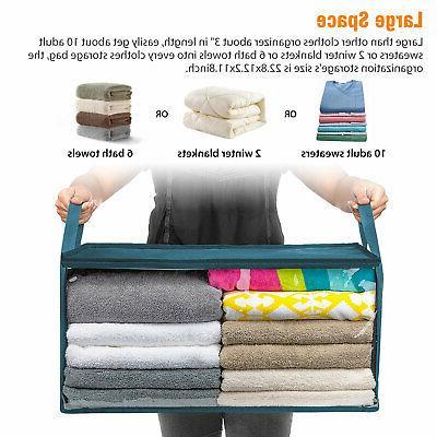 Foldable Closet Storage Bag Clothes Quilt Blanket Zipper Organizer