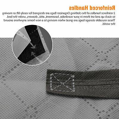 Foldable Home Closet Storage Bag Zipper Organizer