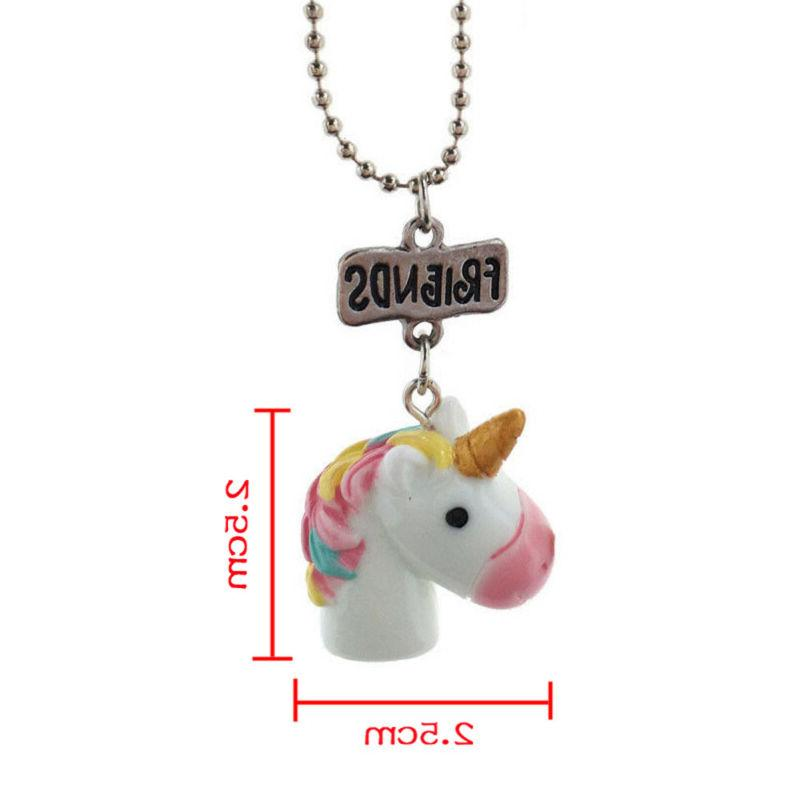 2Pcs/Set Necklaces Children Birthday Gift