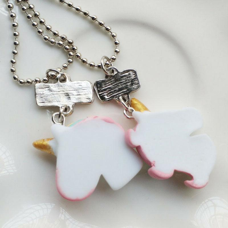 2Pcs/Set Friends Necklaces Children Girls Birthday