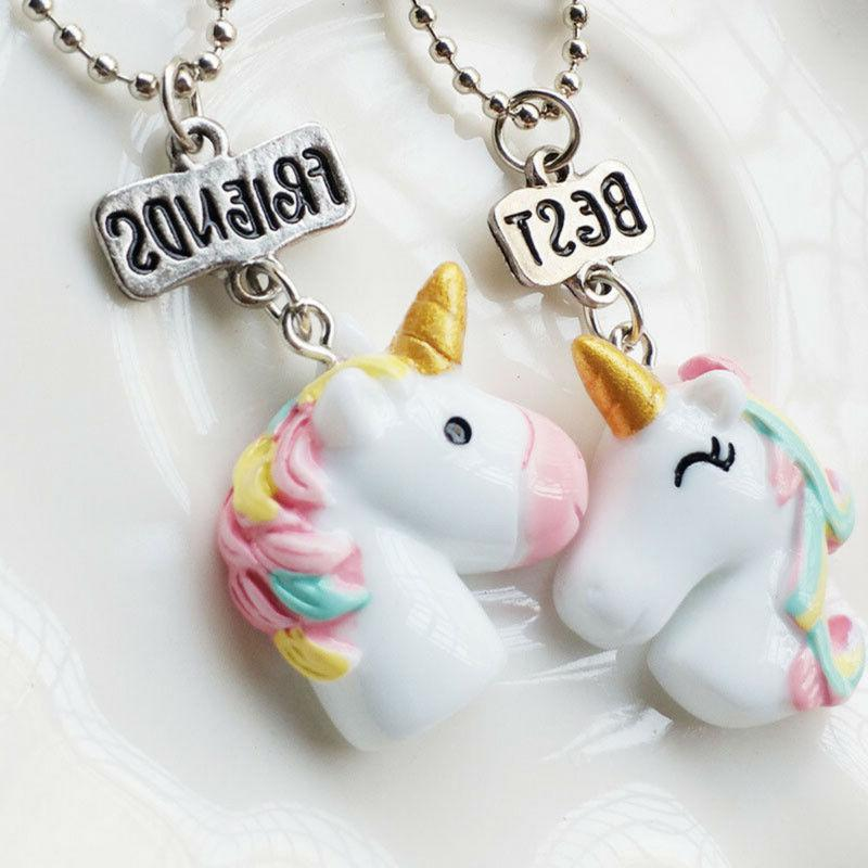 2Pcs/Set Necklaces For Girls Birthday
