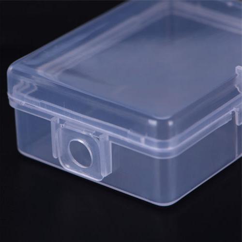2X Small Transparent Plastic Storage Box Clear Multipurpose