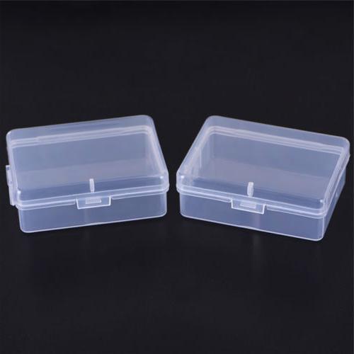 2X Transparent Plastic Storage Clear Square Multipurpose