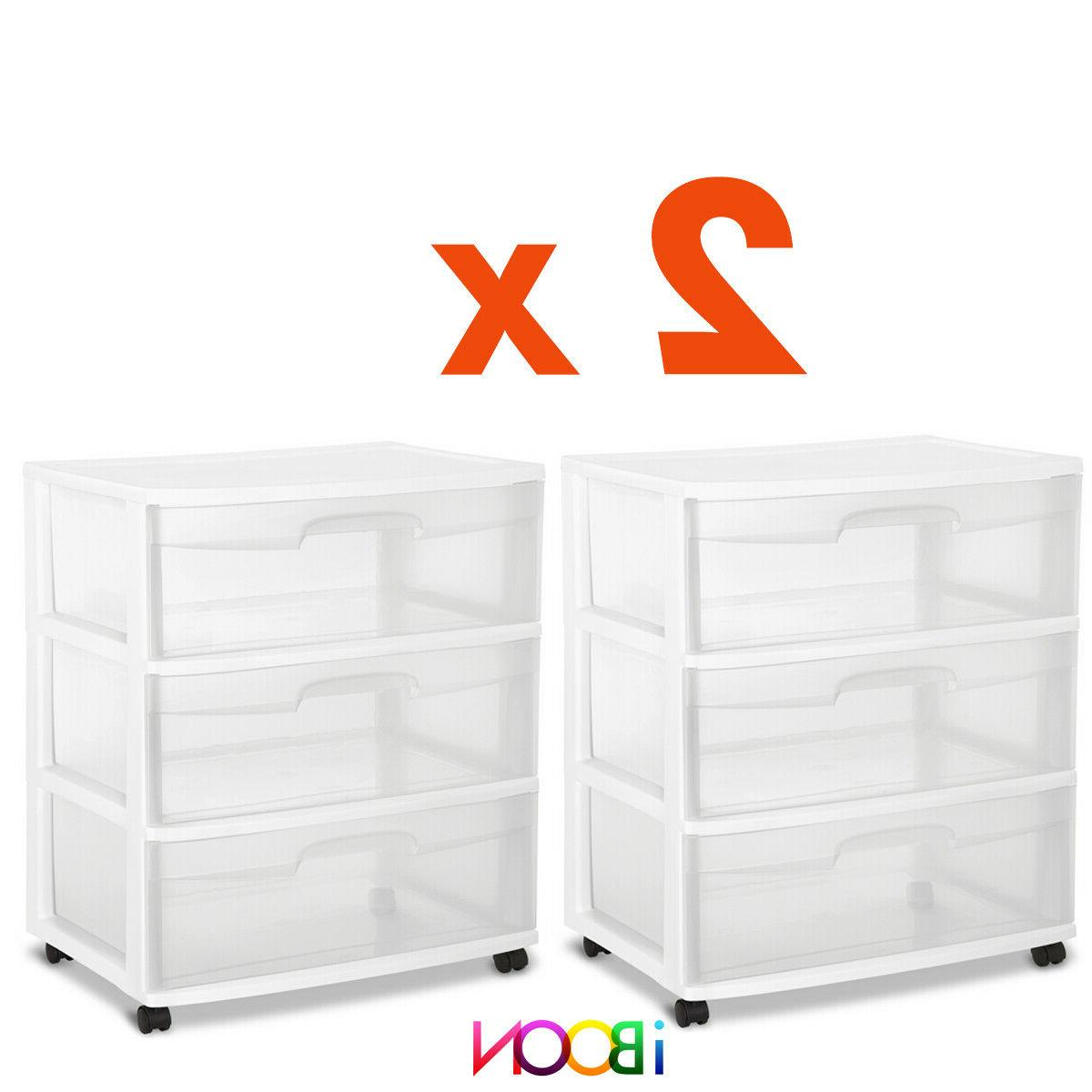 3 DRAWER Organizer Set Of 3 Box Wide Container