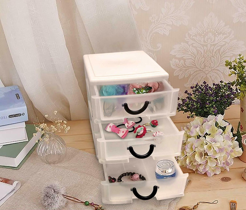 3 Plastic Organizer Set Storage Dresser