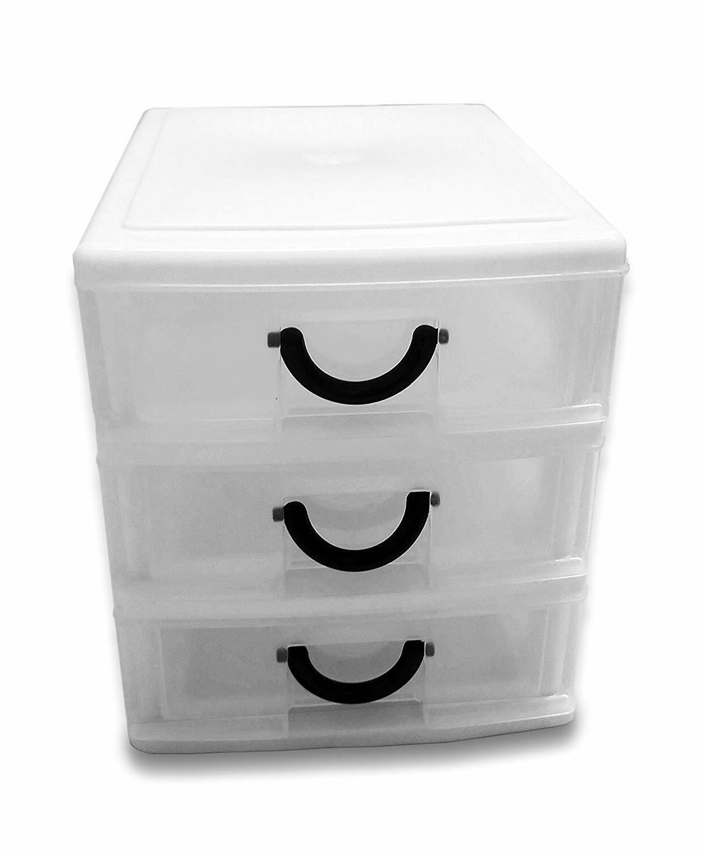 3 Drawer Organizer Set of Storage Dresser New