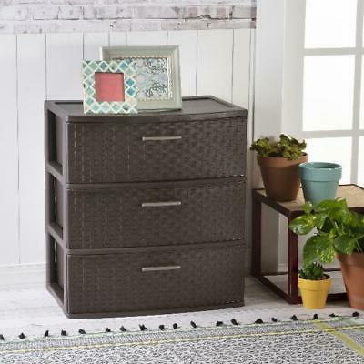 Sterilite Cart Clothes Organizer 3 Drawer Box