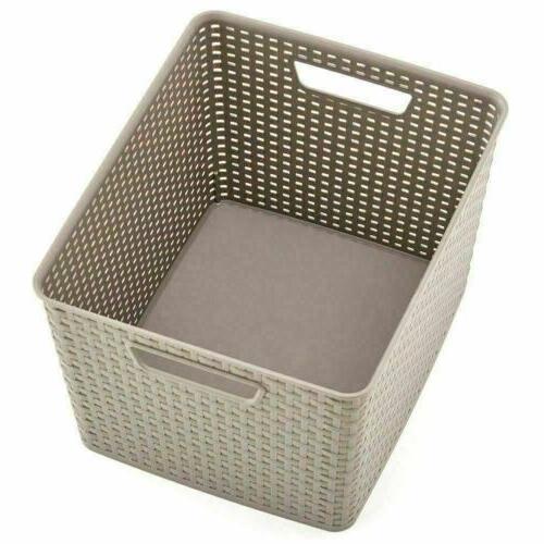 3 Plastic Organizer Baskets Container
