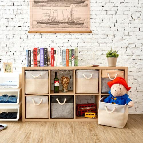 3 Large Basket boxes shelf