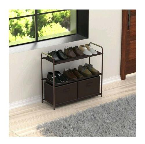 3 Tier System Shelves Draws Entryway Shoe