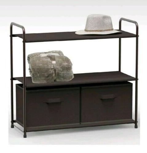 3 tier closet organizer system shelves draws