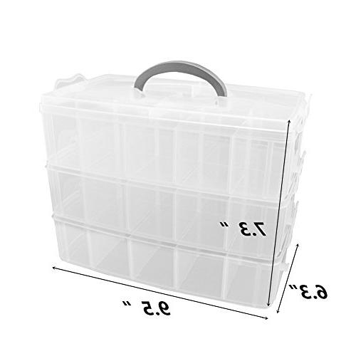 Rekukos 3-Tier Jewelry Container With Adjustable 30(Large)
