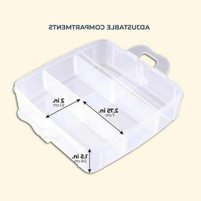 3 Tier Plastic Storage Organizer Box with Compartments