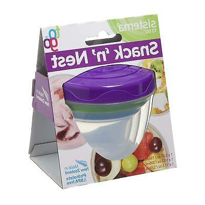 3 Go Pots Box Food Freezer Containers