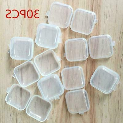 30/90Pcs Clear Small Box Earplugs Box