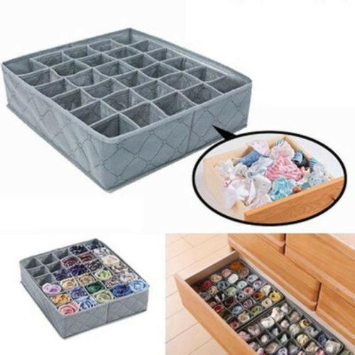 30 Bamboo Ties Sock Organizer Box