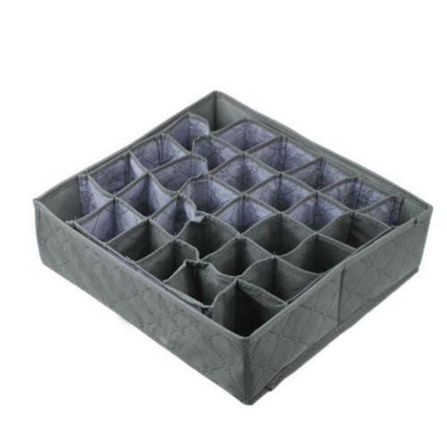 30 Charcoal Underwear Ties Organizer Box