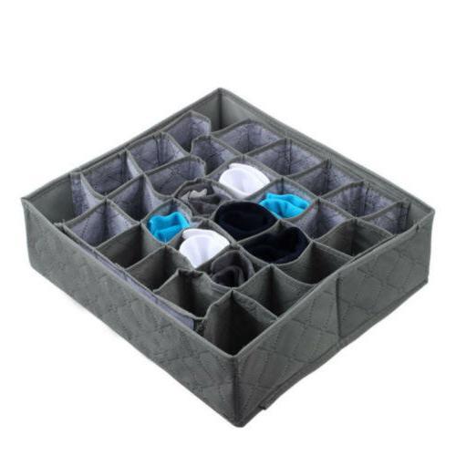 30 Ties Sock Drawer Closet Organizer Box US