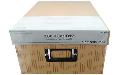 30032642 storage photo box 7 5x4x11tan pattern