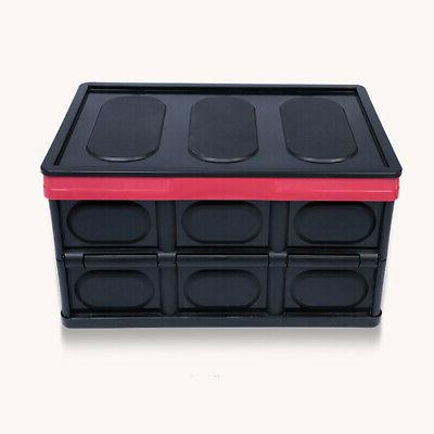 30L Collapsible Plastic Storage Box Stackable Folding Utilit