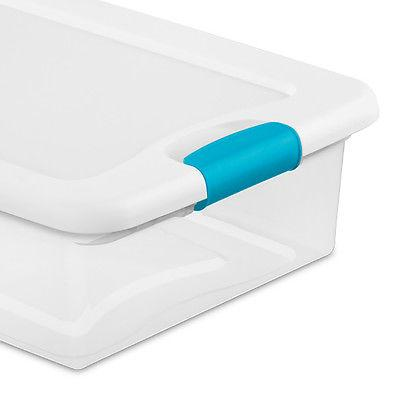 Sterilite Clear Latching Box Container, 6 Pack 1496