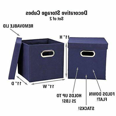 Household Storage Cube Set with Removable | Navy