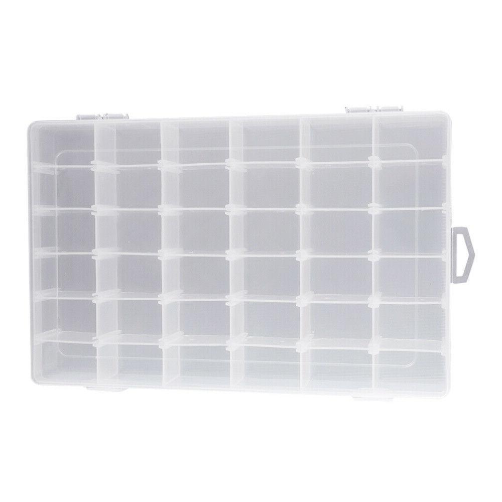 36 Plastic Box Jewelry Storage