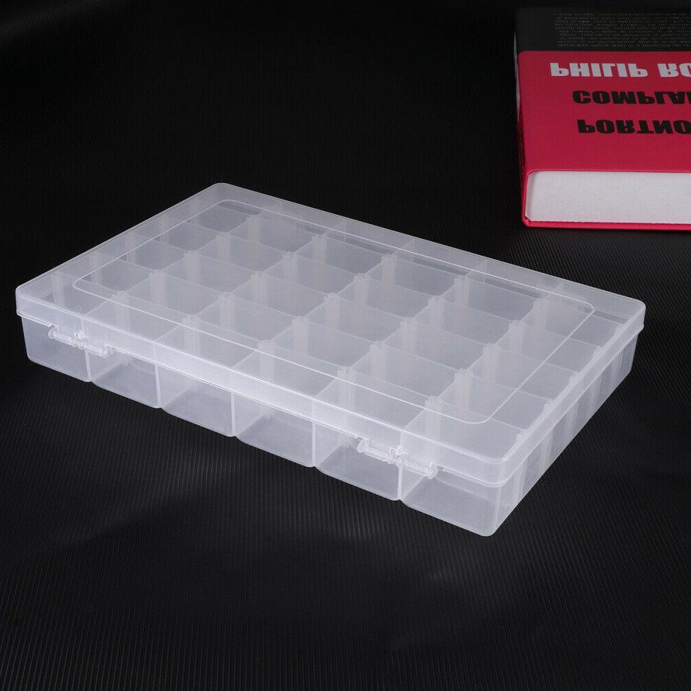 36 Compartment Craft Plastic Box Bead Storage Container USA