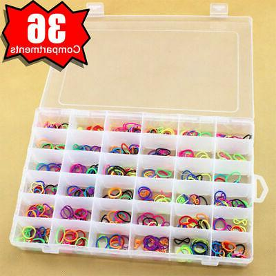 36 compartments clear plastic storage