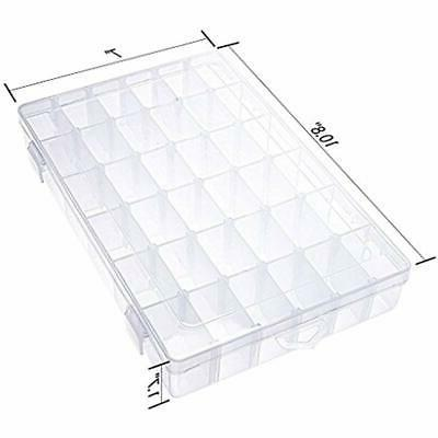 36 Grids Craft Sewing Plastic Jewelry Box