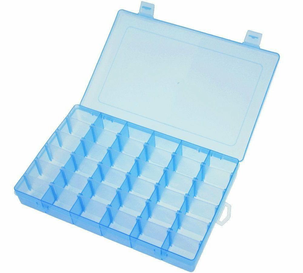 36 Grid Box Storage Organizer Case Display w/ Adjustable