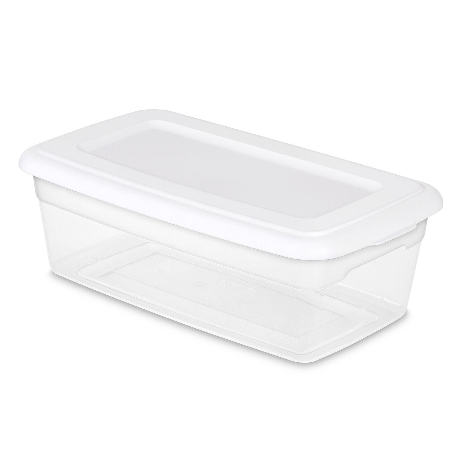 36 PACK Box 6 Quart Case Clear Stackable Lid