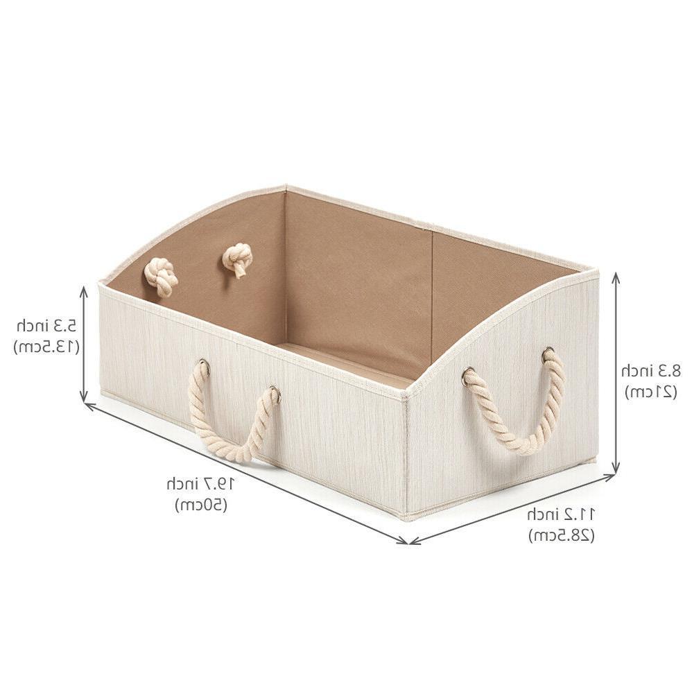 3Pack Foldable Organize Storage Bins Basket