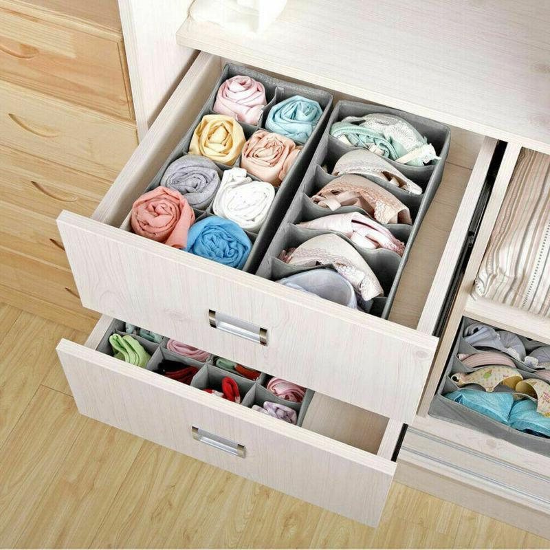 3Pack Drawer Fordable Box Organiser Socks